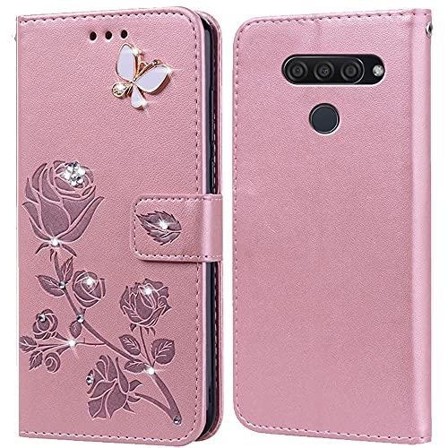 Hülle für LG K50/Q60,Handyhülle für LG Q60,Klappbar Tasche Hülle,Standfunktion,Kartenfach,Silikon Bumper,Stoßfeste Schutzhülle Cover für LG K50(6.26