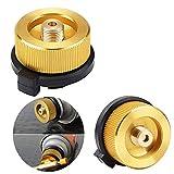 tingz 2PCS Adaptador de Estufa de antorcha de Gas para Acampar al Aire Libre Conector de convertidor de Estufa para Recipiente de butano para atornillar Adaptador(Cierre automático sin Fugas)