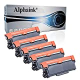 Alphaink 5 Toner compatibili con Brother TN-2310 TN-2320 per stampanti Brother DCP-L2500 L2520D L2560DW HL-L2300D HL-L2360D HL-L2340DW HL-L2365DW HL-L2320D L2360DW L2380DW MFC-L2740DW MFC-L2700DW