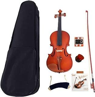 LAGRIMA 4/4 Beginner Kid Violin, Handcrafted Acoustic Violin Beginner Kit, Case, Tuner, Bow and Rosin, Light Natural