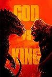 Godzilla Vs Kong Home Living Room Bedroom Decor Movie Waterproof Poster Painting Canvas Wall Art HD Print Poster picture Mural 16x24inch(40x60cm) (Godzilla vs Kong 5)