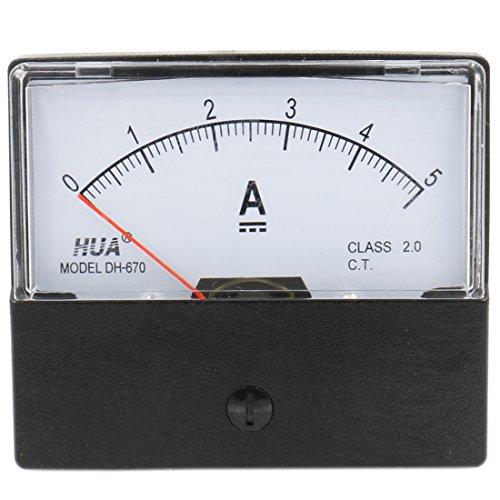 Heschen Auf dem Rechteck montierter Strommesser Amperemeter-Tester DH-670 DC 0-5A Klasse 2.0 CE-gelistet