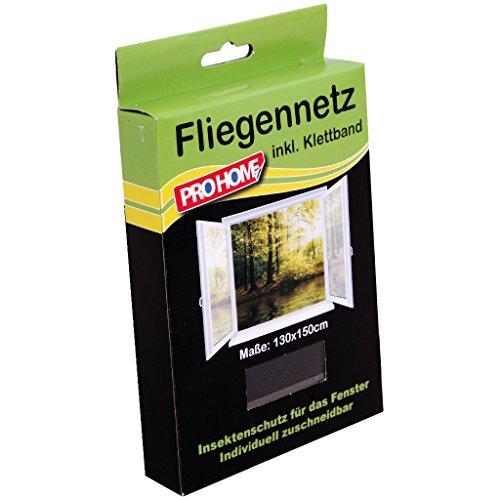 Pro Home Insektenschutz Fliegengitter 4er Pack Mückennetze 130x150 cm in schwarz, reißfest und witterungsbeständig