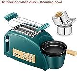 Tostadora de múltiples funciones tostadora, horneado en casa tostadas, tortilla, plato al vapor, cocido al vapor Bowl, lxhff favorita de los jóvenes horno electrico RVTYR