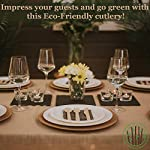 GREENPRINT Disposable Wooden Cutlery Sets - 150 Piece Total: 50 Forks, 50 Spoons, 50 Knives, 6 Inch Length Ecological… 6