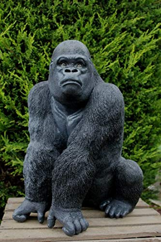 Aspinaworld Gorilla Sitting On Lurky 56 cm Garden Figure Monkey Figurine