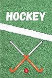 HOCKEY: Carnet de 100 pages lignées   Cadeau pour passionné de hockey sur gazon    15,2x22,9 cm