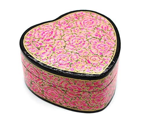 Artezen - Pulsatio grande - Bebé rosa en forma de corazón   Joyero   recuerdo, joyas, almacenamiento, presentación, decoración, multiutilidad, único acento para el hogar