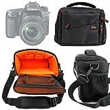 DURAGADGET Bandolera Compartimentos para Las Cámaras Nikon DL 18-50 | DL 24-500 | DL 24-85 - Asa Regulable