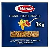 Barilla Pasta Mezze Penne Rigate, Pasta Corta di Semola di Grano Duro,...
