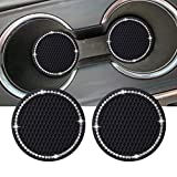 Dalimo 2PCS 2.75 Inch Bling Car Cup Holder Insert Mat...
