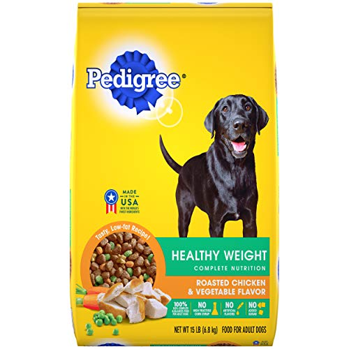 PEDIGREE Healthy Weight Roasted Chicken & Vegetable Flavor Dry Dog Food 15 Pounds