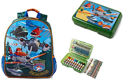 Review Disney Planes Fire and Rescue Full Sized School Backpack and Pencil Case