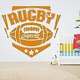 WSQYSF Rugby Stickers Muraux Chambre d'enfants Tête De Lit Fond Décoration Boule Vinyle Stickers Muraux Salon Art Déco 65X57Cm