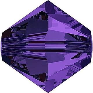 5328 Swarovski Crystal Bicone Beads Purple Velvet | 4mm - Pack of 50 | Small & Wholesale Packs