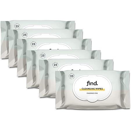 Marchio Amazon - find. Salviette detergenti delicate (Adatte per pelli sensibili) - 6x25 (150 salviette)