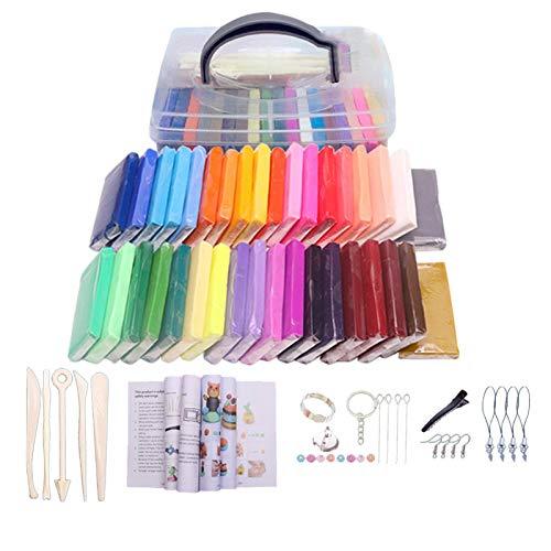 Arcilla de polímero de 32 colores para hornear y hacer manualidades de arcilla colorida, segura y no tóxica, modelado suave, juguete colorido para niños