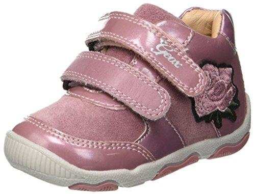 Geox B New Balu' B, Baskets Basses Bébé Fille, Rose (Dk Pink C8006), 25 EU