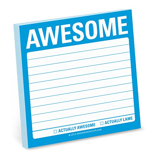 1-Count Knock Knock Awesome Sticky Notes, Memo Sticky Notes, 3 x 3-inches Each