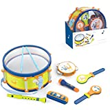 BSTEle Juego de batería de 9 Piezas para niños, Juego de batería de Juguete, Instrumentos Musicales para bebés, rimas Infantiles, Juguetes de Trompeta para niños y niñas