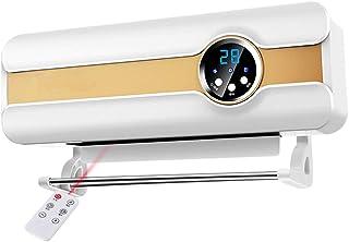 SJY Calentador de baño de Uso doméstico de Doble calefacción Calefactor montado en la Pared pequeño Ventilador de Aire Acondicionado rápido Calor Impermeable Calentador,C
