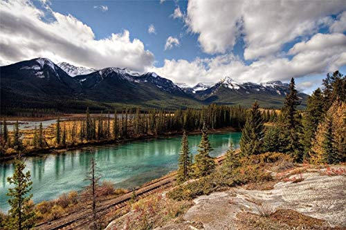 KCHUEAN Rompecabezas para Adultos 1000 Piezas Parque Nacional Banff Canadá De Madera Montaje Personalizado