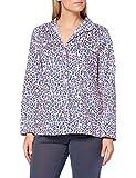 Joules Women's Dream Pajama Top, Lilac Leopard, M