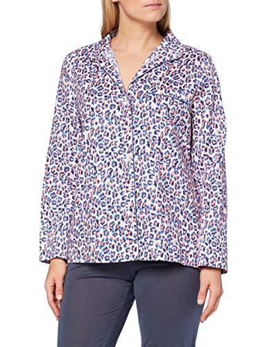 Joules Dream Camiseta de Pijama, Lilac Leopard, L para Mujer
