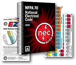 NFPA National Electrical Code (NEC) Spiralbound, with Color Coded EZ Tabs and Formula Guide 2020 Editions (2 Pack)