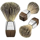 GRUTTI Shaving Brush 100% Pure Badger Shaving Brush-Silver Handle- Engineered for the Best Shave of Your Life