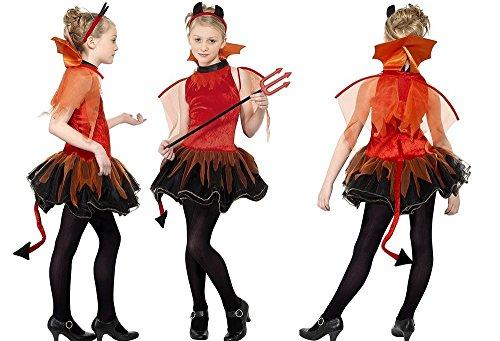 Deguisement Diablesse Adolescente 152/163cm Robe Costume Halloween - 922