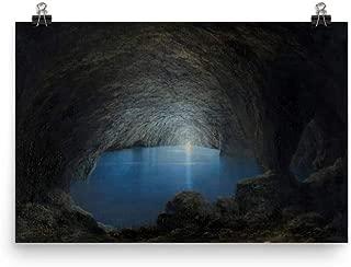 Retrograde Ink Karl Wilhelm Diefenbach - The Blue Grotto on Capri