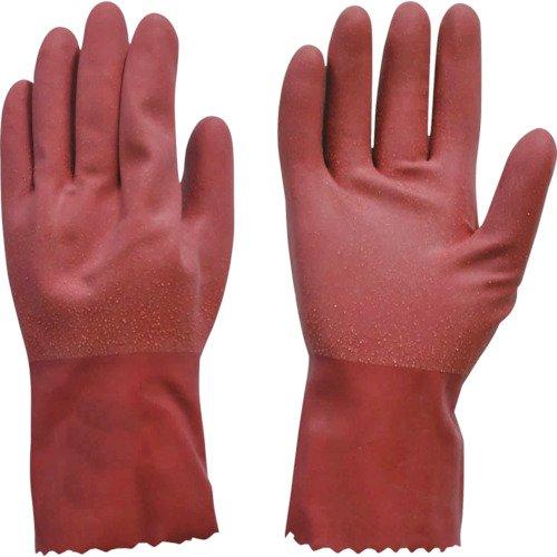 ダンロップ 天然ゴム手袋 デジハンドラバーコートソフト M レッド 10枚入れ