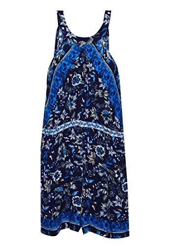 Superdry Clara Halter Playsuit Monos Cortos, Azul (Navy Paisley Ew6), XXS (Talla del Fabricante:6) para Mujer