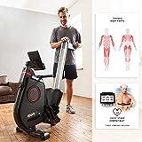 SportPlus Ruderergometer für zuhause, App-Steuerung, klappbar, leises Magnetbremssystem, ca. 8kg Schwungmasse, 24 computergesteuerte Widerstandsstufen, Nutzergewicht bis 150kg - 3