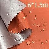 LUOSFUH 210T Polyester TAFT Stoff mit silberbeschichtetem