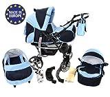 Sportive X2 - Sistema de viaje 3 en 1, silla de paseo, carrito con capazo y...