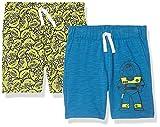 Spotted Zebra Boys' Kids Disney Star Wars Marvel Knit Jersey Play Shorts, 2-Pack Toy Story Space, Medium