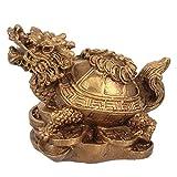 Veemoon chino dragón tortuga Feng Shui Estatua decoración del hogar atraer la riqueza buena suerte, figura decorativa para la oficina, colección Feng Shui