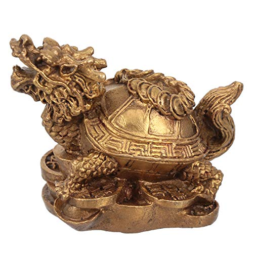 Veemoon Chinois Dragon Tortue Feng Shui Statue Décoration de