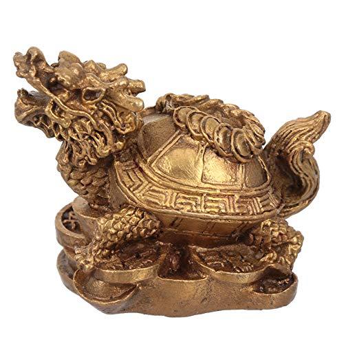 Veemoon Chinois Dragon Tortue Feng Shui Statue Décoration de