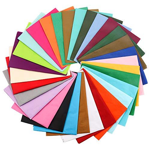 60 hojas de papel de seda de 70 cm x 50 cm, papel de regalo decorativo de color sólido para cajas de regalo, botellas de vino, manualidades