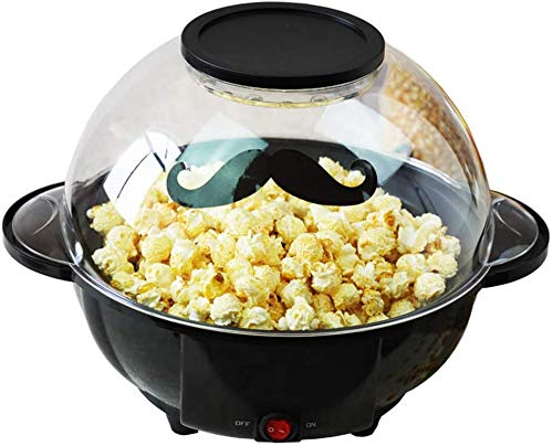 HIGHKAS Máquina automática de Palomitas de maíz, máquina eléctrica de Palomitas de maíz en Forma de hogar para la máquina de Palomitas de maíz de Cine en casa