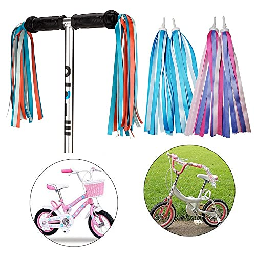 NICOLIE 2 Uds 30Cm Colorido Manillar De Bicicleta Borlas Niñas Niños Ciclismo Triciclo Niños Serpentinas Decoración De Bicicletas Accesorios Al Aire Libre Regalo - 3