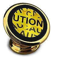 黄色の注意サイン 携帯電話ホルダー スマートフォン ブラケット 車 磁石 車 ナビゲーション ブラケッ 360度 スピン ロードとアンロードが簡単 iphone/android/複数モデル互換