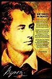 Lord Byron Art Print Ella Camina En Belleza Cartel poema regalo, 15 x 10 Inch (38x25cm)