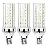 Sauglae Bombillas LED de Maíz de 20W, Bombillas Incandescentes Equivalente de 150W, Blanco Frío de 6000K, 2000 lm, Bombillas de Pequeño Tornillo Edison E14, 3 Piezas