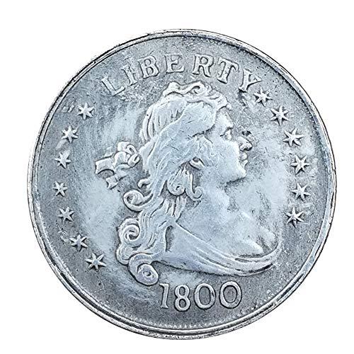 Xinmeitezhubao Silbermünzensammlung, antike weiße Kupfer- und Silbermünzen, amerikanischer Silberdollar mit 1800 Dollars