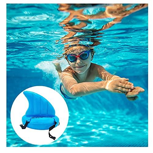 Yuemei Wettkampf Trainingsflossen Trainingsflossen für Schwimmen, Schwimmtrainingsflossen Aufblasbarer Haifischflossen Schwimmtrainer Kurzflossen zur Verbesserung der Schwimmfähigkeit