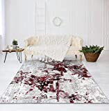 Luxe Weavers Abstract Red 5x7 Area Rug